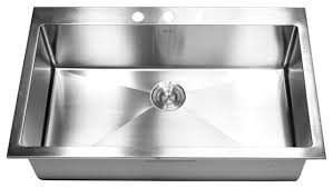 Kitchen Stainless Sinks by Amazing Stainless Steel Single Bowl Kitchen Sink Top Mount Single