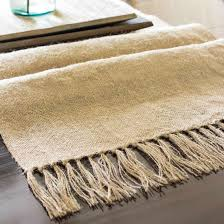 how to make burlap table runners for round tables diy burlap table runner with tassels on sutton place