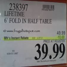 lifetime folding tables 6 amazing of 6ft folding table costco lifetime commercial grade 6 ft