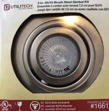 utilitech 3 inch recessed lighting utilitech 3 inch gu10 white gimbal recessed light kit 16059 ebay
