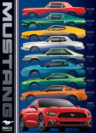 mustang models by year pictures ford mustang 9 model puzzlewarehouse com