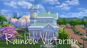 the sims 4 house building rainbow victorian youtube