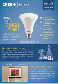 Cree 100 Watt Led Light Bulb by Cree 100w Equivalent Soft White 2700k Br30 Dimmable Led Light