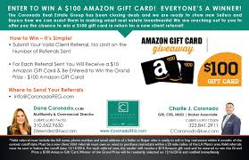 win gift cards online enter to win 100 gift card coronado real estate