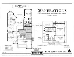 nice looking multigenerational house plans with two kitchens