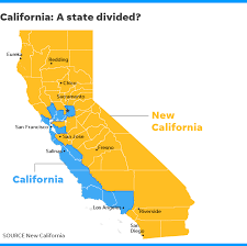 california map in us new california declares independence from california in statehood bid