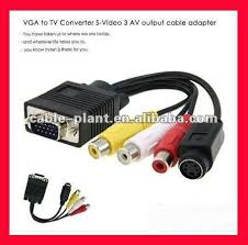 1080p high quality cable vga rca casero with two ferrites buy