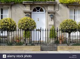 Garden Wall Railings by Double Fronted House With Iron Railing And Garden Long Street