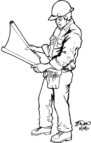 construction worker coloring page free download