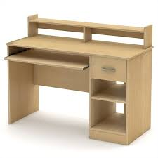 under desk hutch lighting south shore axess contemporary style computer desk in natural maple
