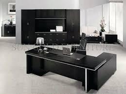 Black Office Desk Black Office Desk Modern Popular Office Furniture Black Wooden