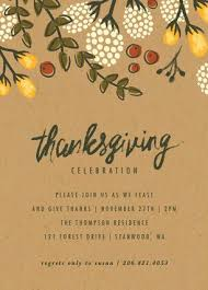 thanksgiving lunch invitations happy thanksgiving