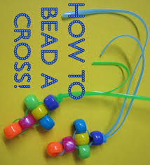 beads cross necklace images How to bead a cross fun christian craft jpg
