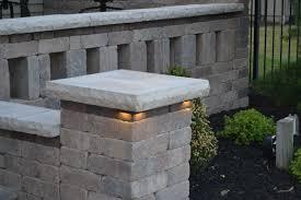 retaining wall lights under cap pillar lighting retaining wall ideas mistyeveretteagency com