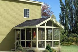 Covered Porch Plans Project Plan 85948 Screened Porch