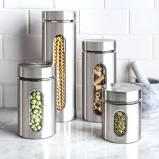 kitchen canisters stainless steel stainless steel storage canisters 3 canister set stainless