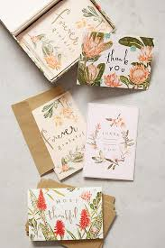 fields abloom thank you cards anthropologie
