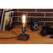 loft living designer steampunk water piping desk top table lamp