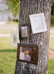 Pictures Of Tree Stump Decorating Ideas Initials Carved In Trees Stump As Wedding Decor Photo Source