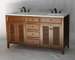 60 inch brown double sink coastal cottage bathroom vanity walnut