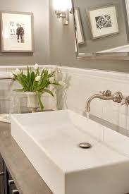 Mirrored Subway Tile Backsplash Bathroom Transitional With by Subway Tile Backsplash Transitional Bathroom Papyrus Home Design