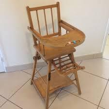 chaise haute b b en bois ancienne chaise haute bebe enfant en bois massif pliante avec