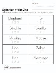 kindergarten worksheet kindergarten counting syllables worksheet