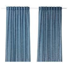 Blue And Beige Curtains Aina Curtains 1 Pair Ikea