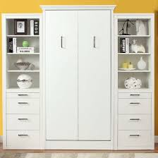 Storage Cabinets Stella Twin Murphy Bed With 2 Storage Cabinets White 3 099 99
