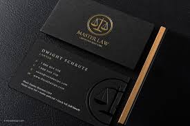 Business Cards Attorney Classic Modern Black Duplex Attorney Business Card Template