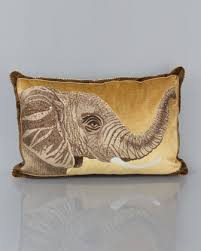 strongwater pillows elephant pillow 16 x 26 by strongwater at horchow