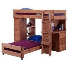 pine loft bed with desk foter