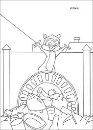 hedge coloring book pages rj raccoon coloring