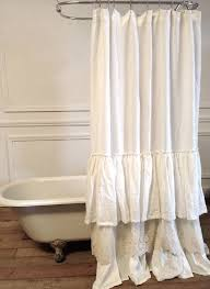 Ruffled Shower Curtains Fantastic Ruffled White Curtains And 25 Best Ruffle Shower