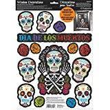 amazon com halloween themed skeleton and spiders gel window