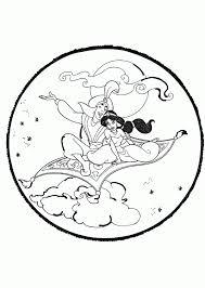 aladdin jasmine flying carpet coloring aladdin