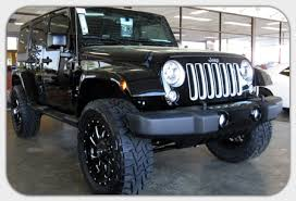 jeep wrangler jacked up matte black build your own custom jeep in cornelius nc lake norman jeep