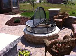 Outdoor Firepit Cover New Pit With Cover Outdoor Sculpture Furniture Prairie