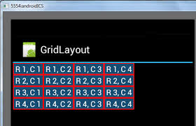 grid layout for android gridlayout in android samsung developers