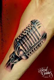 microphone tattoo thumb 60 awesome microphone tattoos