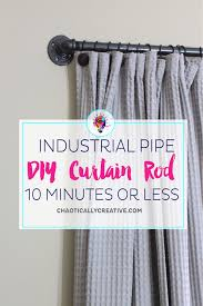 easy diy curtain rods