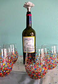 diy painted wine glasses inexpensive christmas gifts christmas