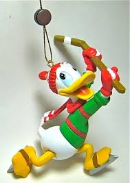 donald duck hockey player and puck ornament grolier from our