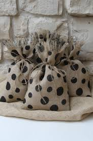 All Occasions Gift Wrap - burlap gift bags shabby chic all occasion gift wrapping black