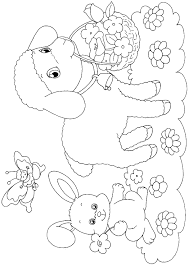 easter colouring easter paper craft to print and colour