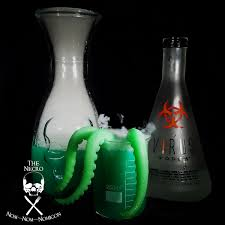 halloween boo zy beverage evil genius with glowing green