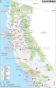 Map Of United States East Coast by California Map Map Of California Usa Ca Map