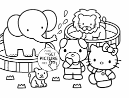 zoo coloring pages kindergarten