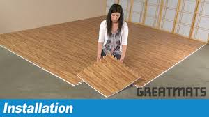 Foam For Laminate Flooring How To Install Greatmats Wood Grain Foam Tiles Youtube