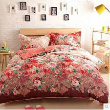 What Size Is A Full Size Comforter Affordable Discount Red Floral Full Size Comforter Sets